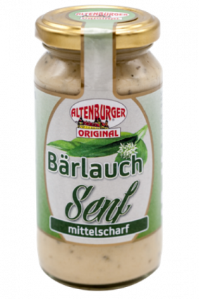 Altenburger Bärlauch Senf, 200ml Glas