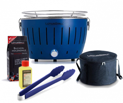 Starter-Set LotusGrill Small (G280) Tiefblau, 5-tlg.