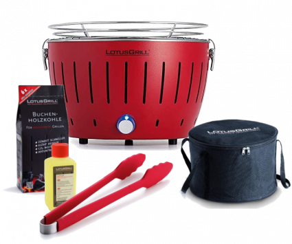 Starter-Set LotusGrill Small (G280) Feuerrot, 5-tlg.
