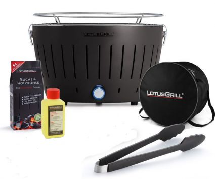 Starter-Set LotusGrill (G340) Anthrazitgrau, 5-tlg.