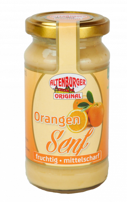 Altenburger Orangen Senf, 200ml Glas