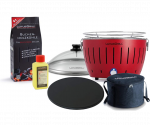Pizza-Set LotusGrill Small (G280) Feuerrot , 6-tlg.